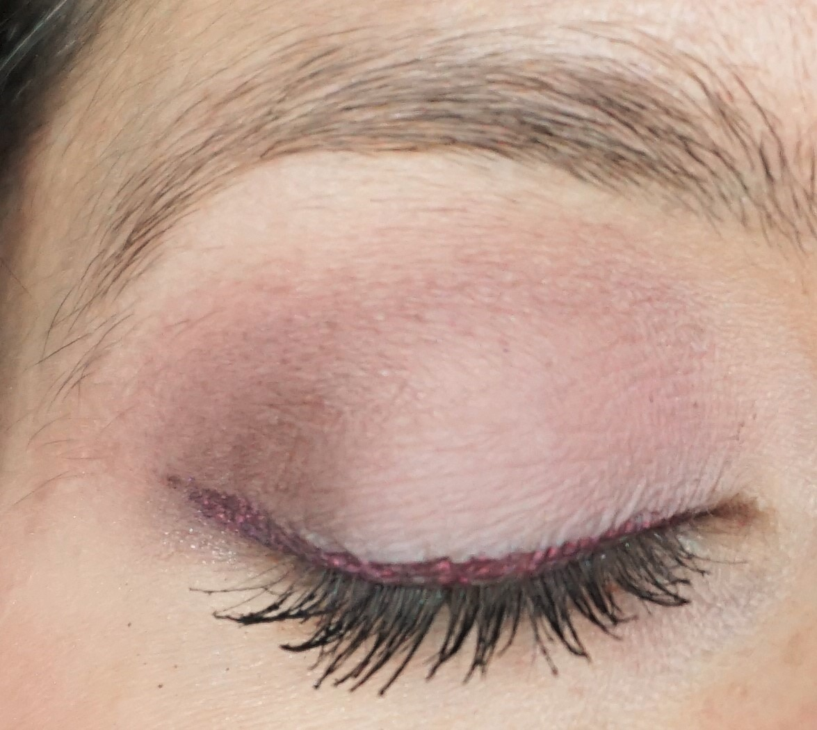 For this look, I used shades from the Urban Decay Naked 3 Palette to create  a soft, plummy effect on the eyes.