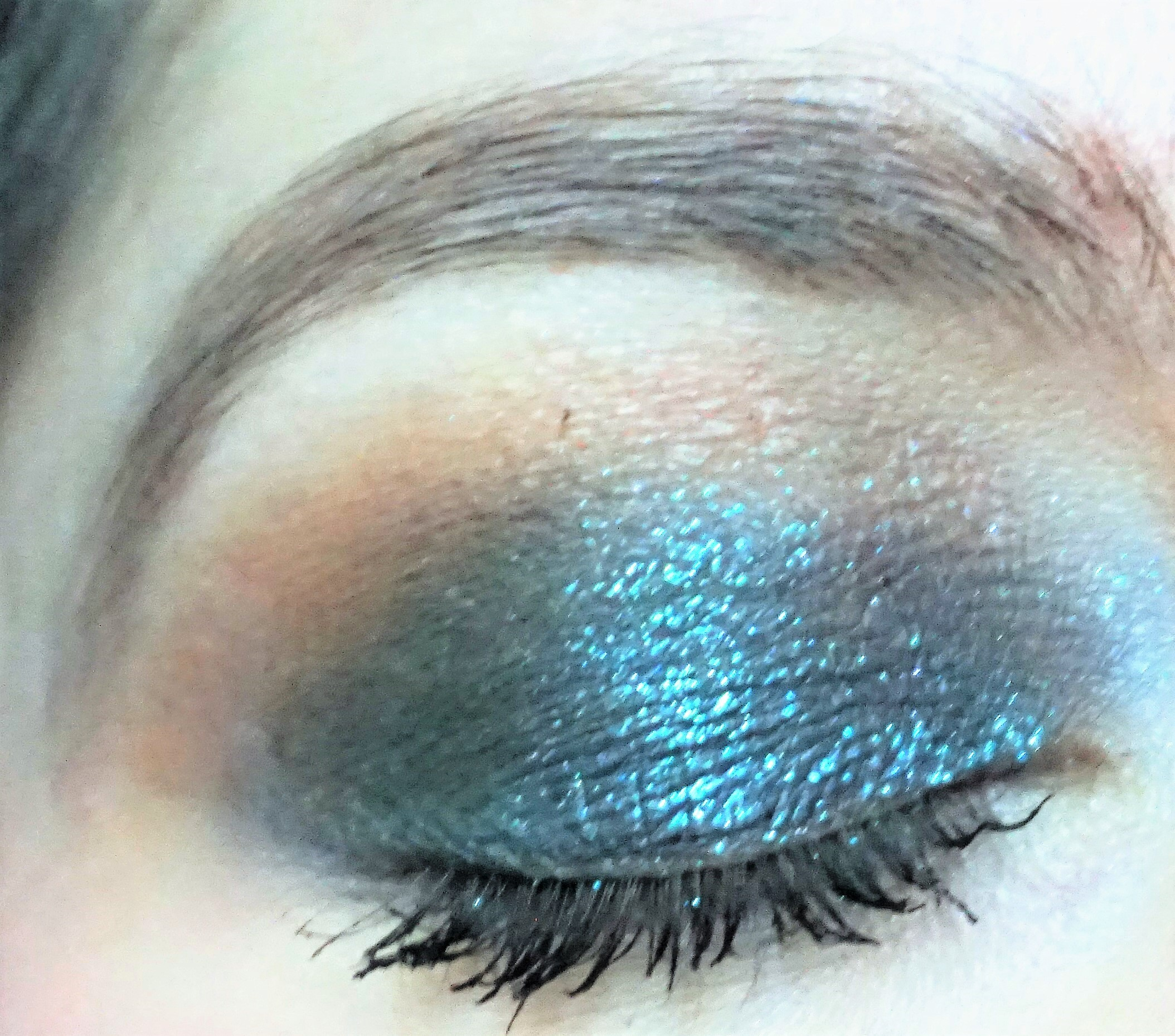 Cosmic Galaxy Using Urban Decay Moondust Palette Make Up By
